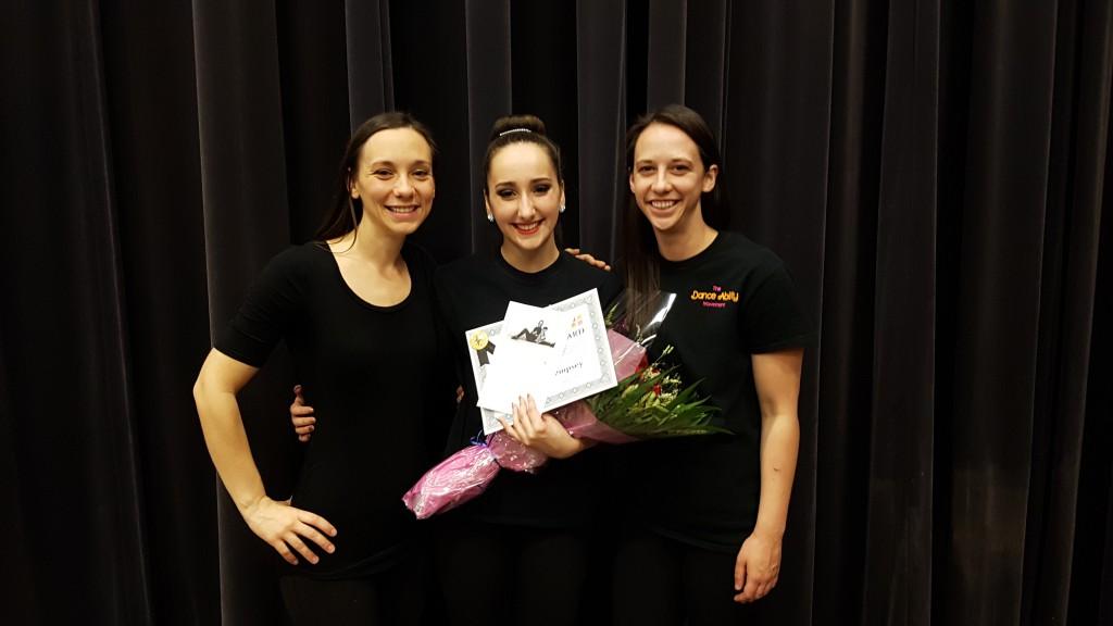 Samantha Dempsey receives the first Volunteer Achievement Award